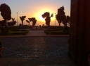 ..evening look from hotel entrance